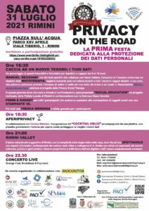 Locandina Privacy on the road A4
